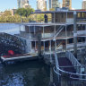 Three taken to hospital after Kookaburra Queen crash on Brisbane River