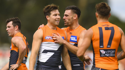 Cameron flirts with match review panel trouble as Giants edge Tigers