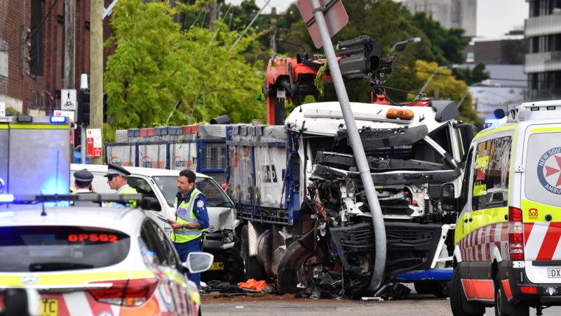 Green Square truck crash: One dead, six injured in horrific
