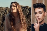 Beauty influencers: Musician Julia Stone for weDo; James Charles
