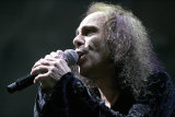 Ronnie James Dio in 2008, two years before his death from stomach cancer.