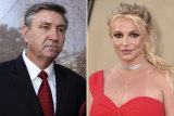 Britney Spears and her father Jamie Spears.