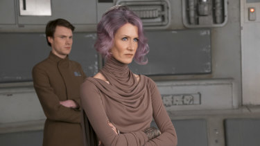 Dern in 2017's Star Wars: The Last Jedi.