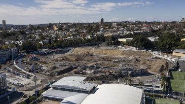 Construction site: The Allianz Stadium site.