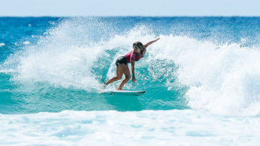 Caroline Marks has grabbed the attention of the surfing world.
