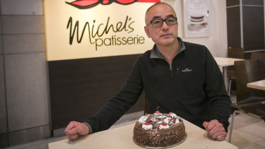 Former Michel's Patisserie franchisee Wayne Hong in Melbourne on Friday.