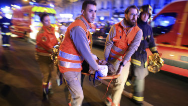 The scence outside the Bataclan theatre in Paris, one of the sites hit by terrorists in 2015.