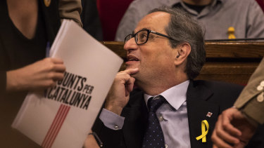 Catalonian separatist Quim Torra is the region's latest president.