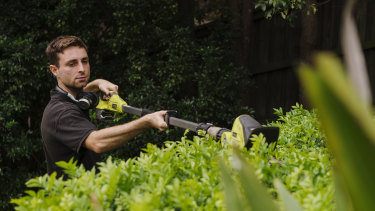 Gardener Alex Bruce is getting more job requests from people spending more time at home.