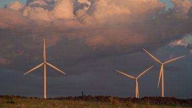 There was a 19 per cent increase in wind power last year.