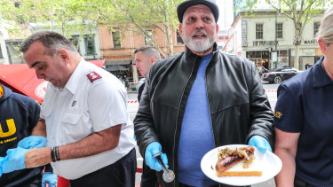 Mick Gatto at a charity event for the Salvation Army