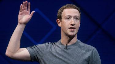 'My mistake': Facebook chief Mark Zuckerberg.