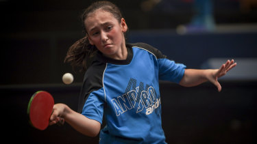 Victorian schoolgirl Connie Psihogios has been playing competitive table tennis for only four years.