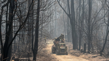 Army reservices are helping with cleanup operations across bushfire affected areas.
