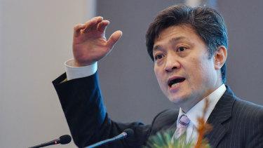 A new Cold War: Professor Yasuhiro Matsuda speaking at the Monash University Law Chambers.