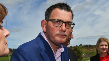 Premier Daniel Andrews in Kyneton on Wednesday.
