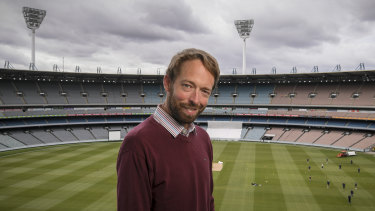 Field of dreams: Author Jesse Hogan at the MCG.