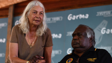 Professor Marcia Langton and Gumatj elder Galarrwuy Yunupingu at the Garma Festival near Nhulunbuy, East Arnhem Land.