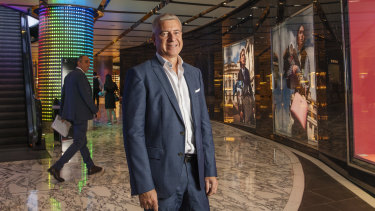 CEO of Scentre, Peter Allen, at Westfield Shopping Centre, Sydne