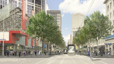 An artist's impression of some of the planned changes on Elizabeth St.