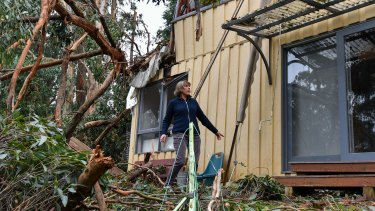 Lyn Osborne has second thoughts about rebuilding in Kalorama after the storm.