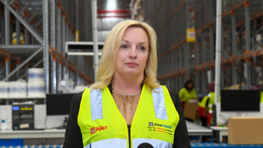 Australia Post CEO Christine Holgate says the disruption to operations from COVID-19 has been significant.