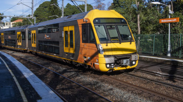Noise from trains often exceeds 100 decibels on dry, hot days at Wollstonecraft station.