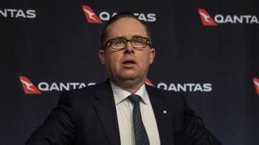 Qantas boss Alan Joyce will relocate the head office to the state with the highest bid.