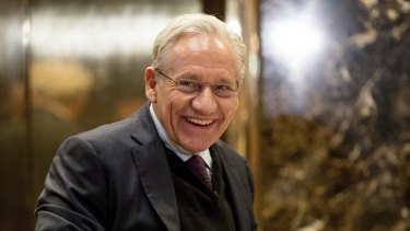Bob Woodward arrives at Trump Tower in New York in 2017. Woodward has conducted in-depth interviews with Donald Trump for his new book, Rage.