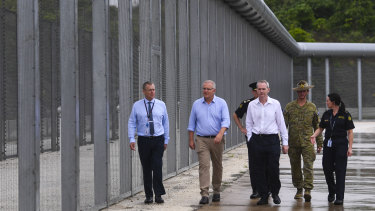 Prime Minister Scott Morrison toured the North West Point detention centre on Christmas Island on Wednesday.