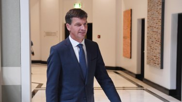 Federal Energy Minister Angus Taylor as he arrived for the energy roundtable.