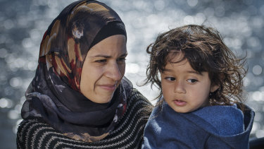 Tina and her son Mohammed live in Australia, but father Hani remains on Nauru.