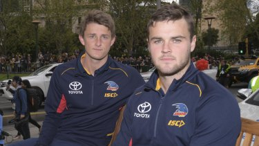 Brad Crouch (right) with his brother Matt Crouch.