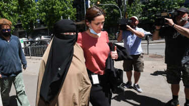 The wife of Shire Ali, Beyza Eren arrives at theCoroner's Court on Thursday.
