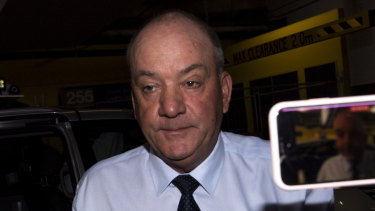 Daryl Maguire arriving at the ICAC in October.
