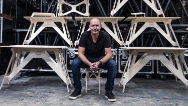 Jeremy Fleming's company Stagekings is now making desks, not stages.