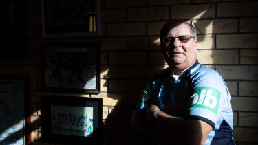 Tommy Raudonikis at his Gold Coast home in 2018.