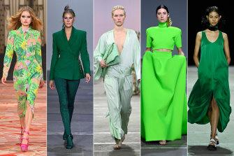 Green lights ... (from left) Alice McCall, Yousef Akbar, Ginger & Smart, Mariam Seddiq, KitX.