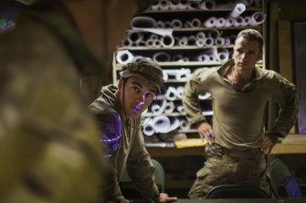 Australian soldiers in mission brief room, Tarin Kowt, Uruzgan Province, 2012.