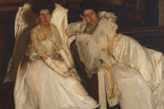 A satisfying retrospective: Hugh Ramsay's Two girls in white(1904), also known asThe Sisters.