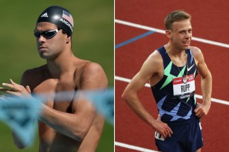 US swimmer Michael Andrew and marathon runner Galen Rupp both use blood flow restriction techniques when training.