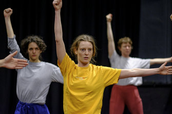 A workshop takes place a few weeks ahead of the Fringe Festival performance.