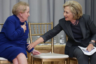 Albright was a fervent supporter of Hillary Clinton's 2016 presidential run.