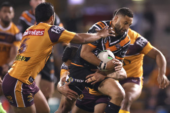 Benji Marshall was a stand out in his return for Wests Tigers.