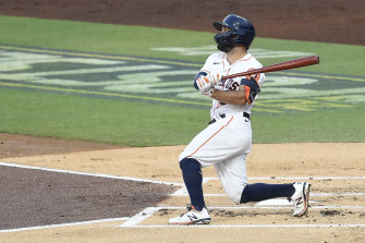 Jose Altuve hit another first-inning home run, this time in game four of the ALCS.