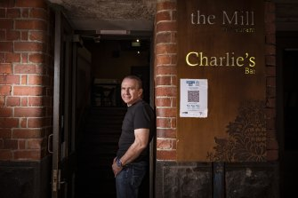 """""""We're in uncharted territory"""": David James, owner of The Mill restaurant in Hardware Lane"""