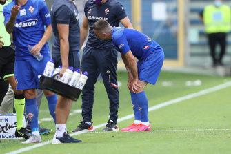 Franck Ribery was injured in Fiorentina's win over Parma.