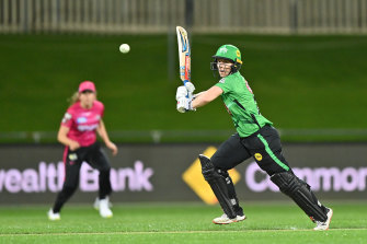 Elyse Villani on her way to a half-century for the Stars.