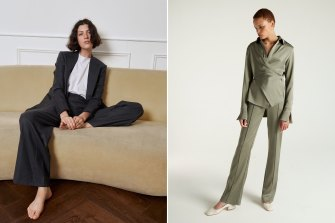 E Nolan (left) is redefining the custom-made suit experience, while Shé is offering small runs of made-to-order garments.
