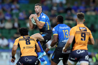 Veteran Rob Kearney was solid in the air but the Irishman was caught for pace at times.